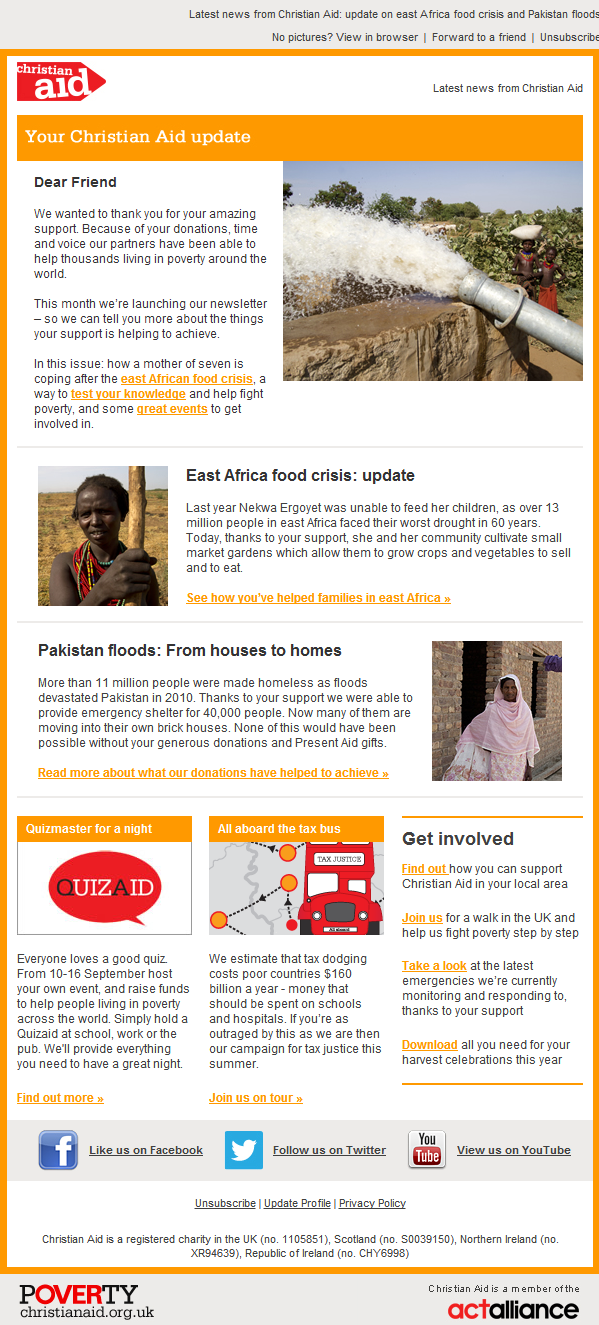 Christian Aid - Update