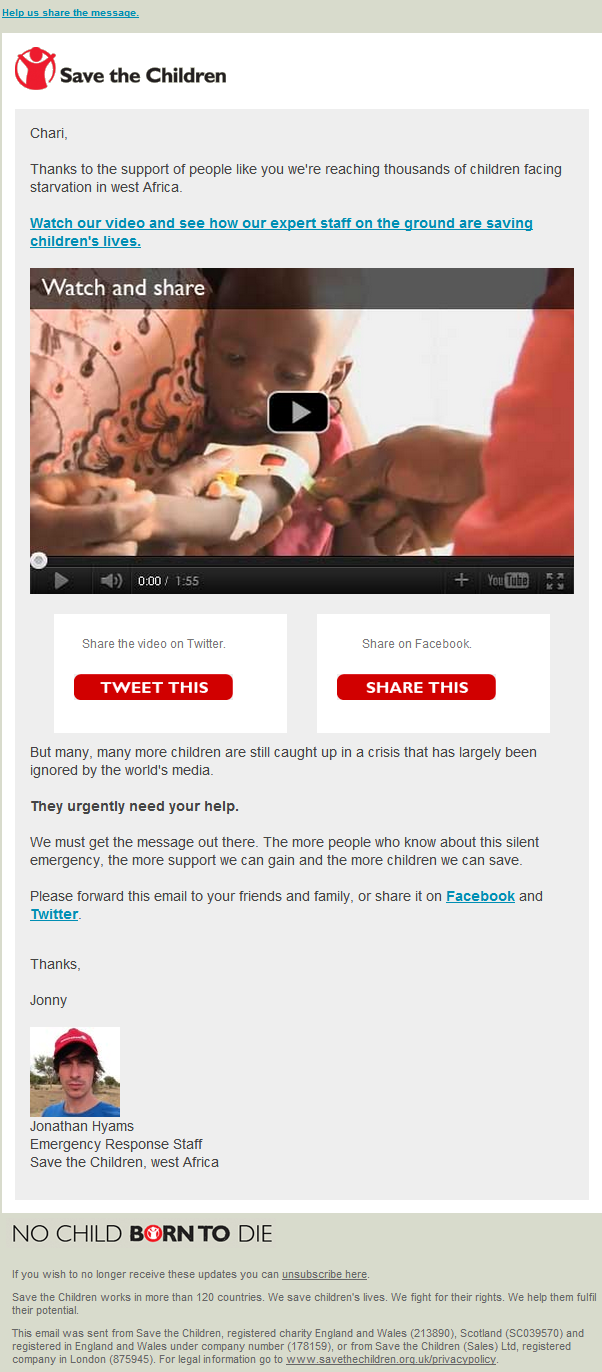 Save the Children - West Africa Video
