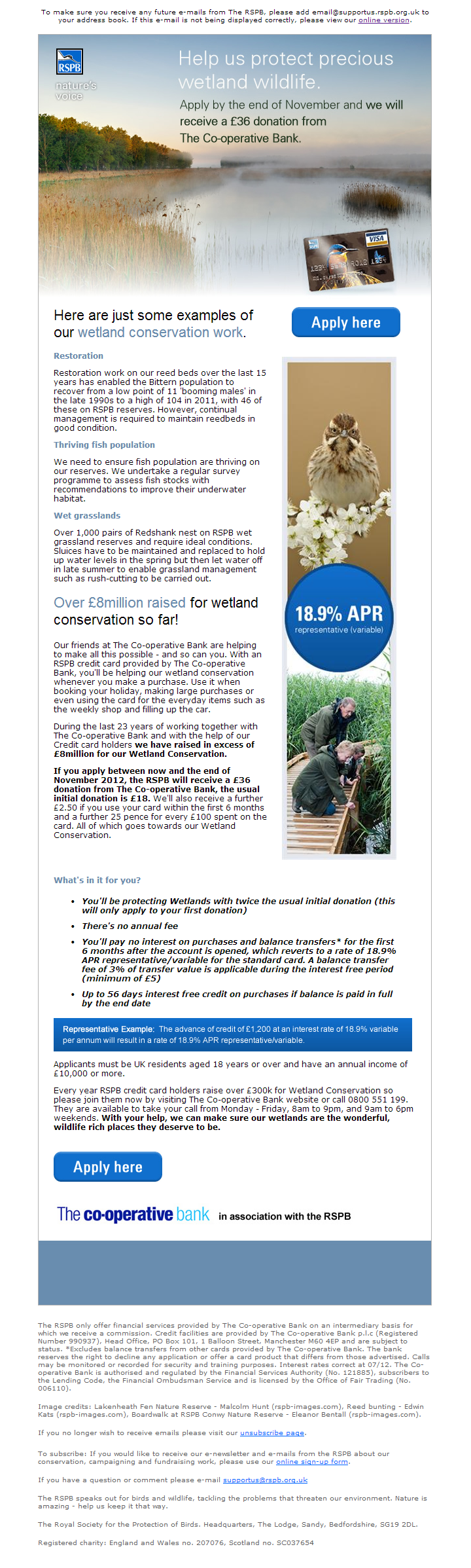 The Co-operative - Wetland Conservation