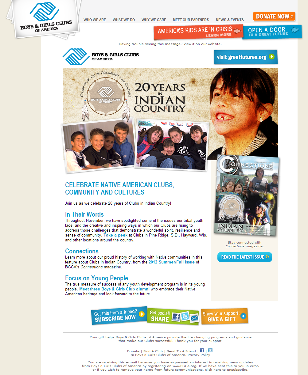 Boys & Girls Clubs of America - Celebrate Native Ame​rican Clubs​