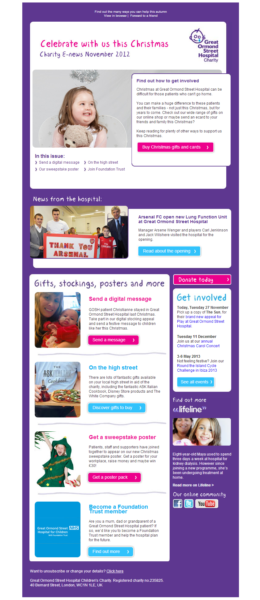 Great Ormond Street Hospital - Charity E-news November