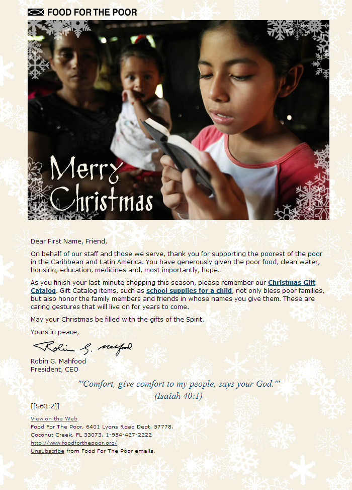 Food for the Poor - Merry Christmas & La​st-Minute Giving Ide​as​