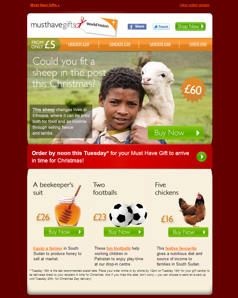 World Vision - Order your Must Have Gift today!