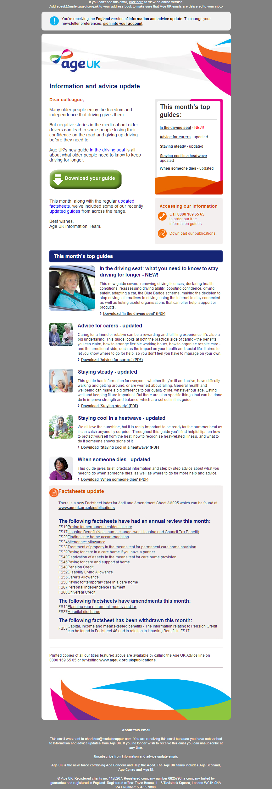 Age UK - New driving guide from Age UK, and updated guides from across the range