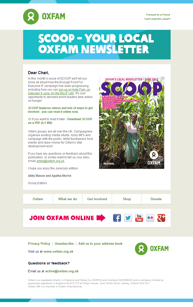Oxfam - What's the SCOOP near you?