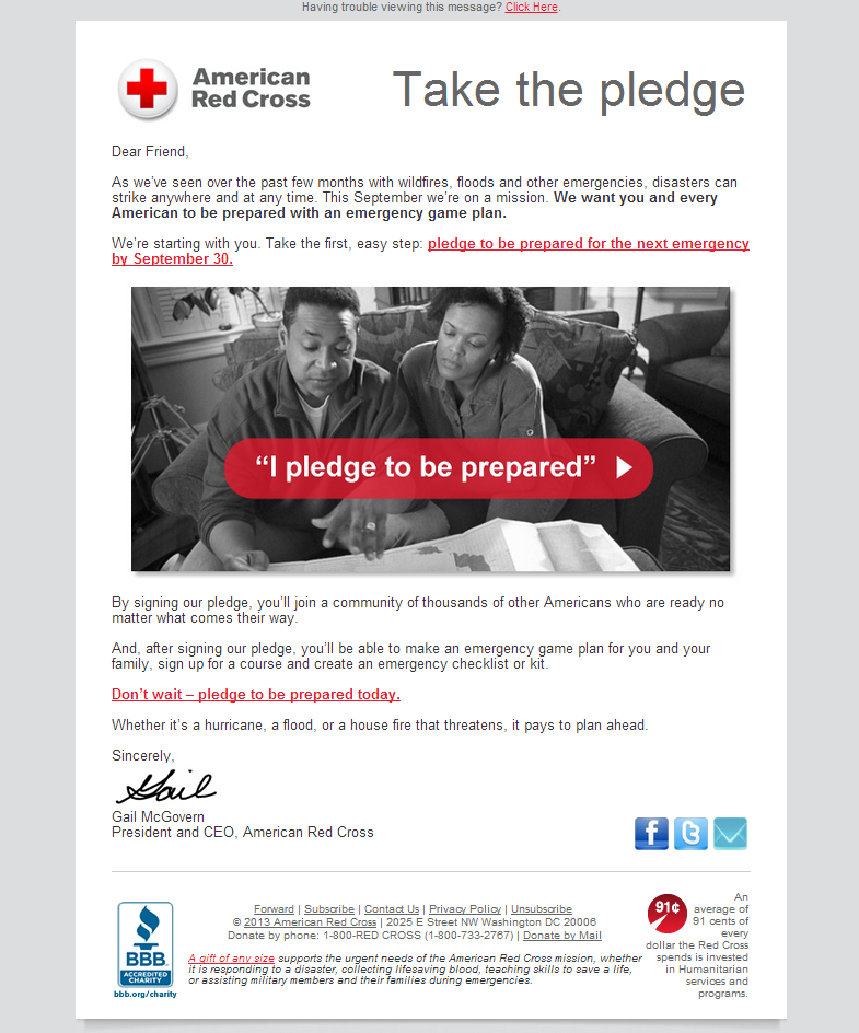 American Red Cross - Will you take the pledge?