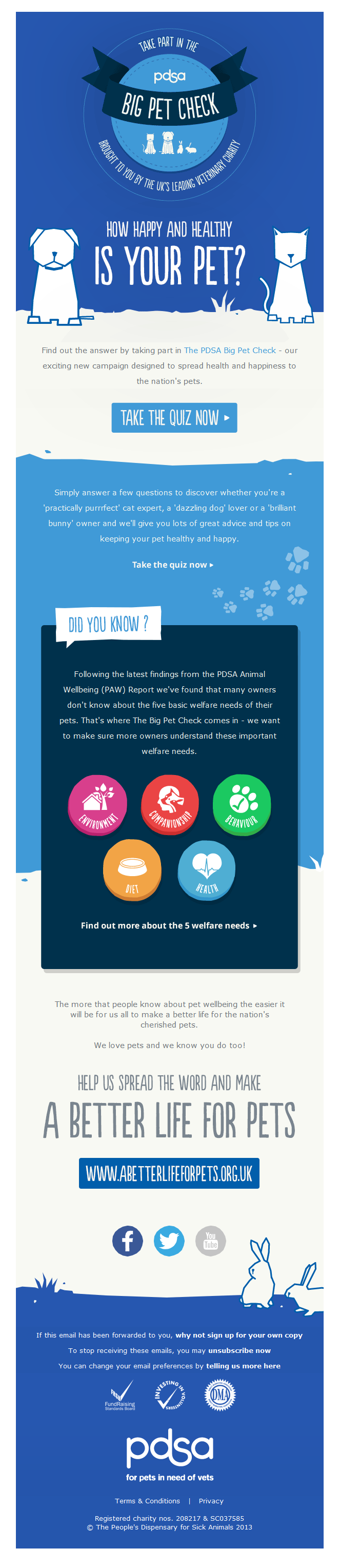 Charity Emails -PDSA - Take part in the PDSA Big Pet Check!