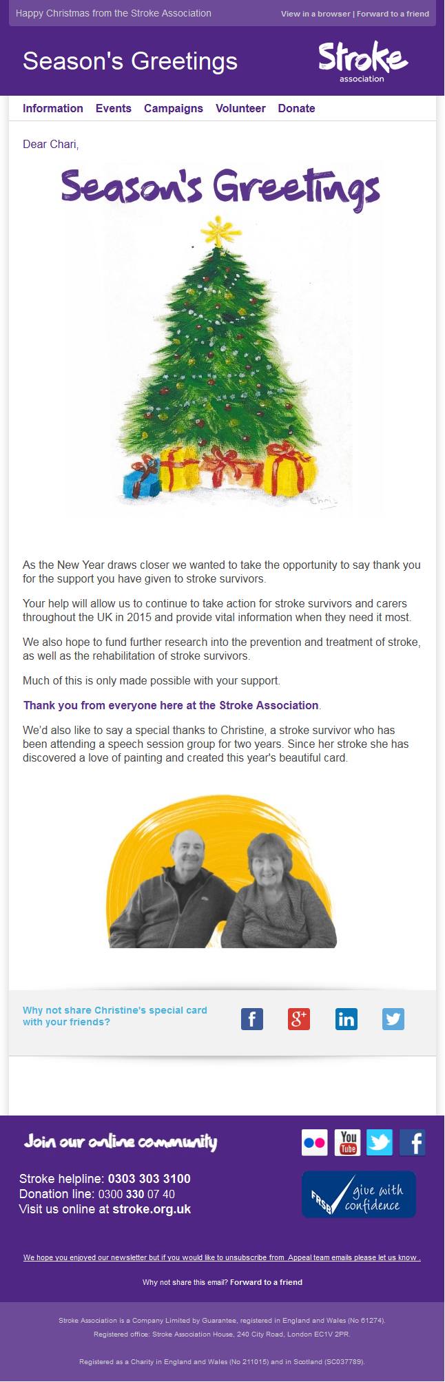 Thanks archives page 4 of 5 charity email gallery stroke association thank you for all your support kristyandbryce Images