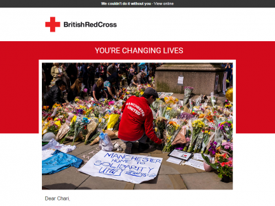 Charity Emails - British Red Cross