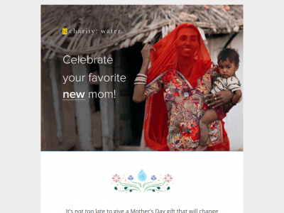 Charity Emails - Charity: Water