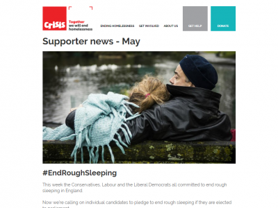 Charity Emails - Crisis