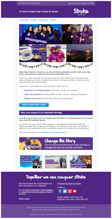 Charity Emails - Stroke Association