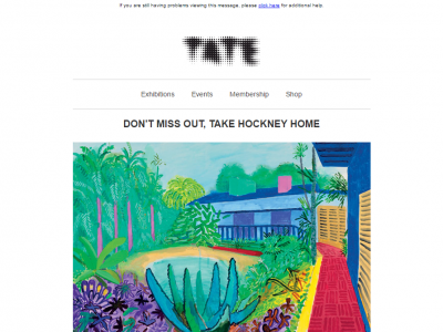Charity Emails - Tate