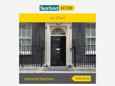 Charity Emails - Tearfund