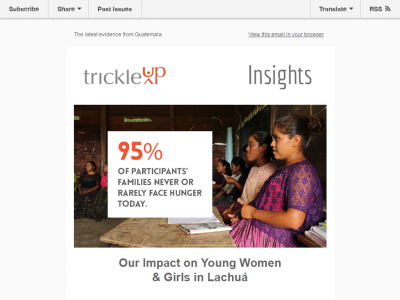 Charity Emails - Trickle Up