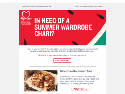 Charity Emails - British Heart Foundation