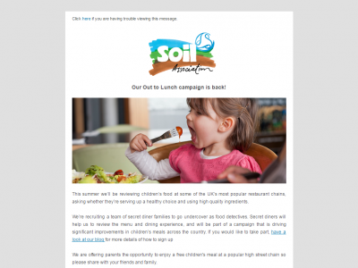 Charity Email - Soil Association