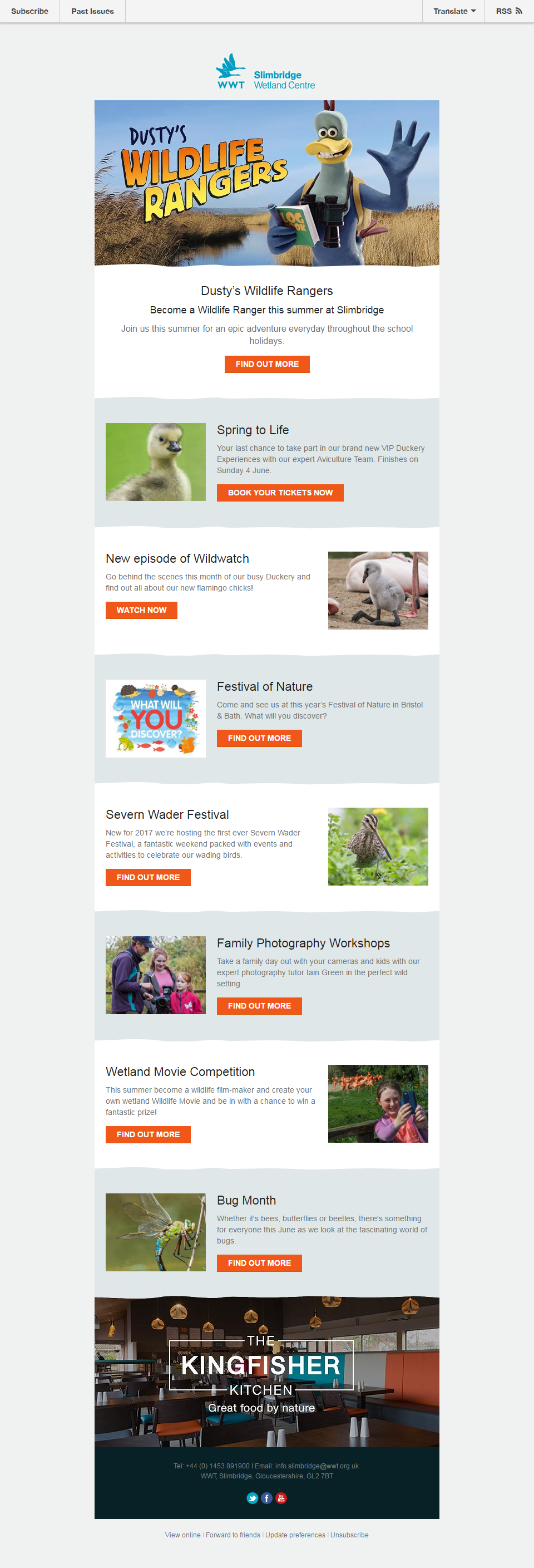 Charity Emails - WWT Slimbridge