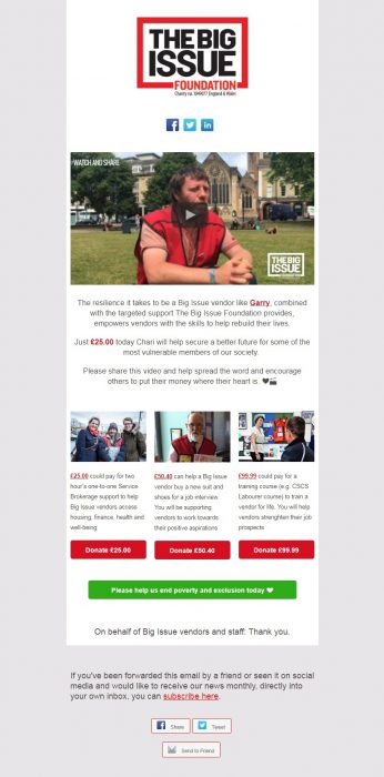 Charity Email - Big Issue