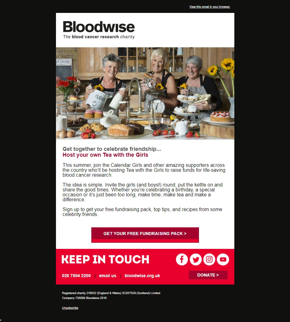Charity Email - Bloodwise