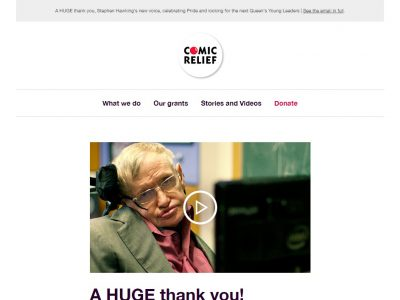 Charity Email - Comic Relief