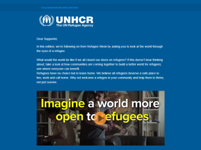 Charity Email - UNHCR