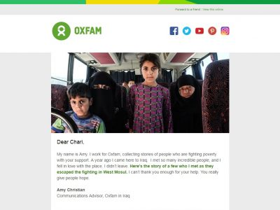 Charity Email - Oxfam