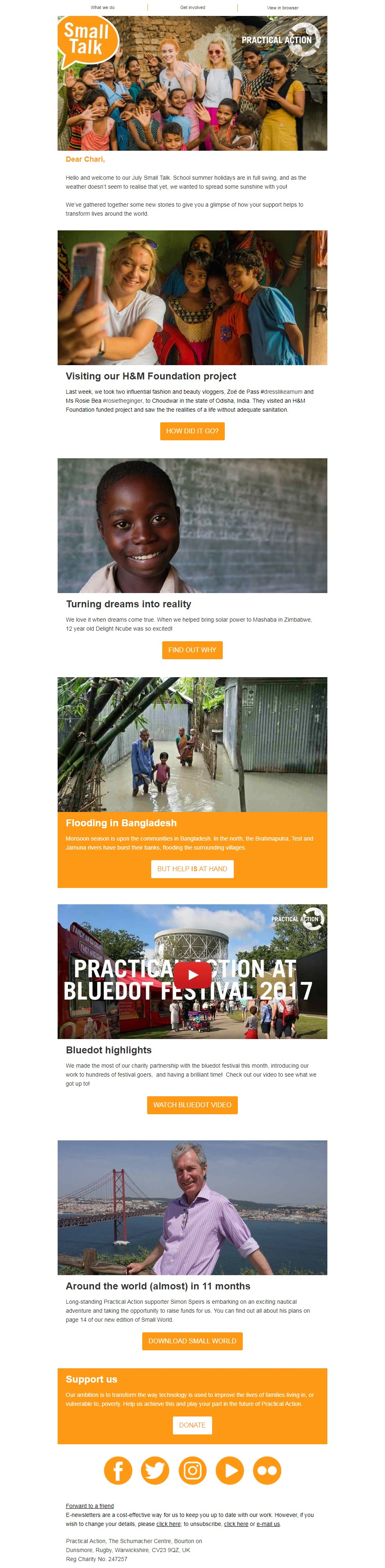 Charity Email - Practical Action