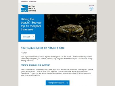 Charity Email - RSPB