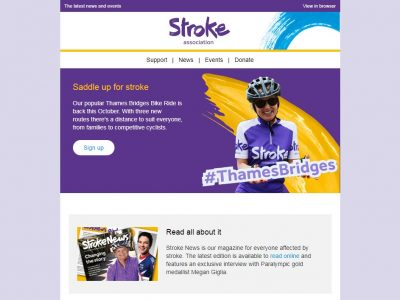 Charity Email - Stroke