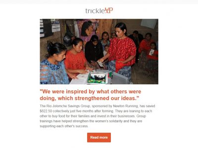 Charity Email - Trickle Up