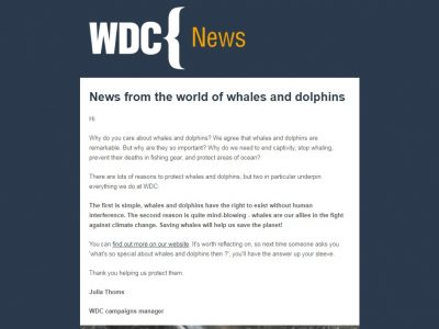 Charity Email - WDC