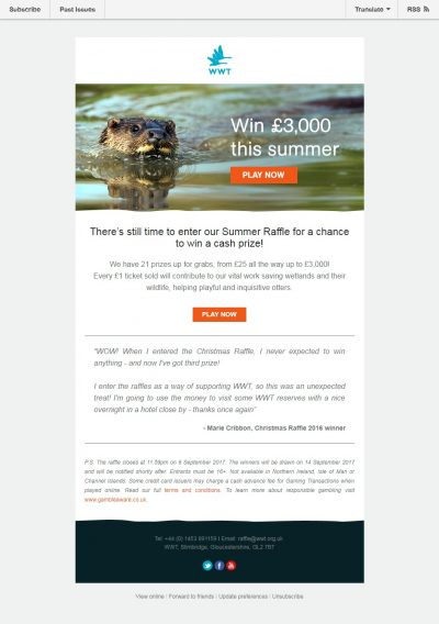 Charity Email - WWT