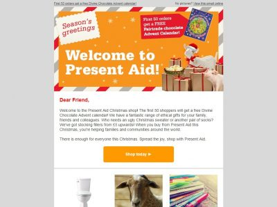 Charity Email - Present Aid