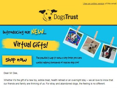 Charity Email - Dogs Trust