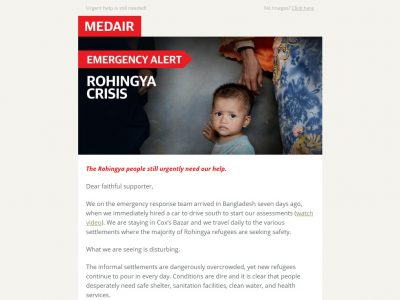 Charity Email - Medair