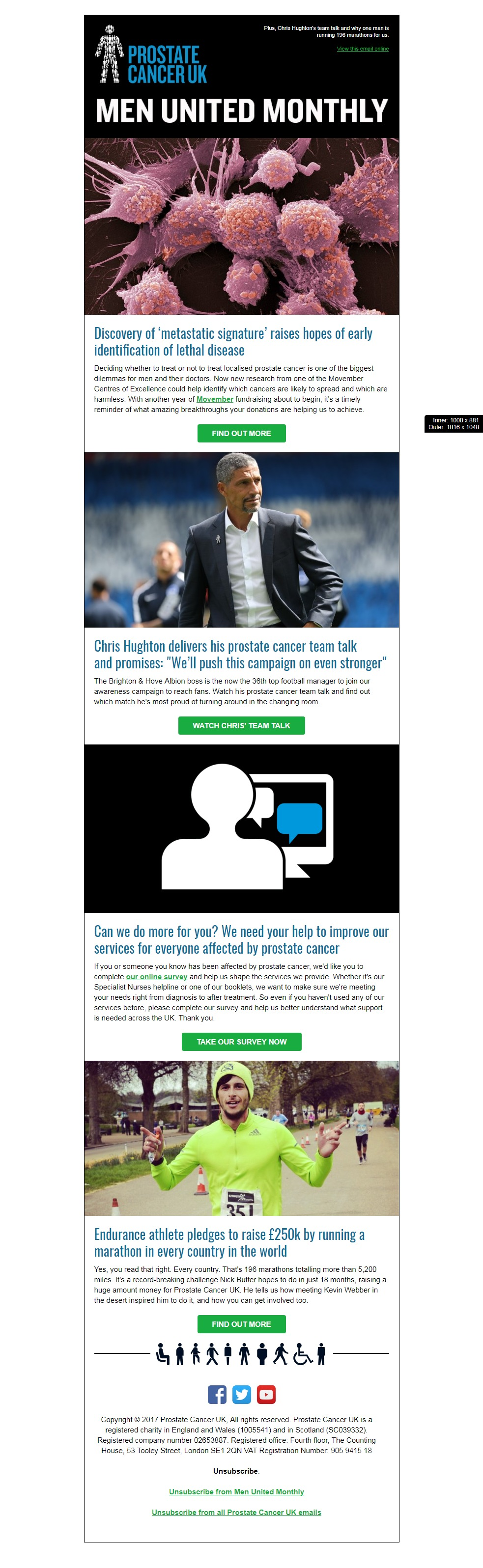 Charity Email - Prostate Cancer UK