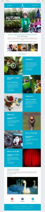 Charity Email - WWT Slimbridge