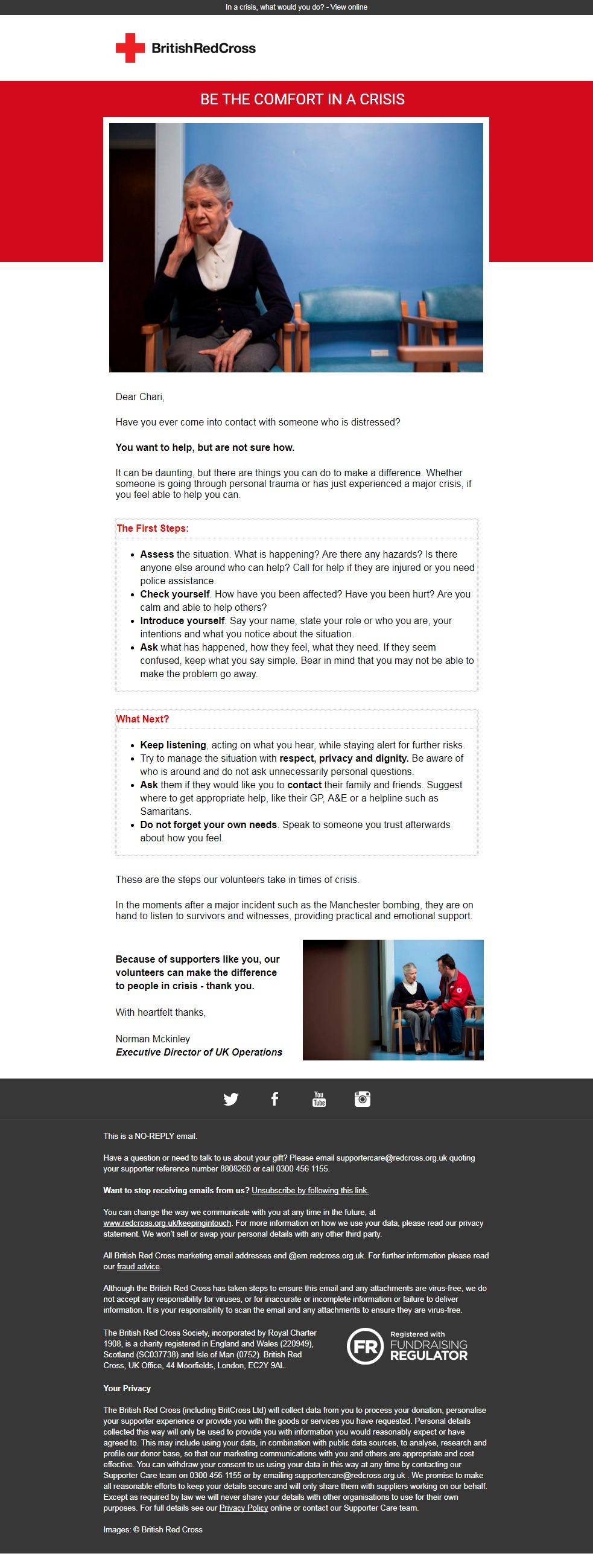 Charity Email - British Red Cross