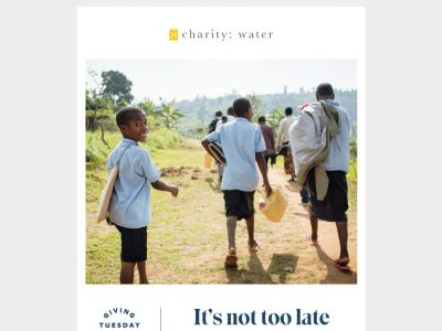Charity Email - charity:water