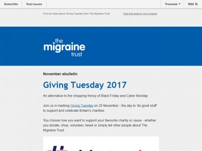 Charity Email - The Migraine Trust