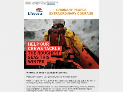 Charity Email - RNLI