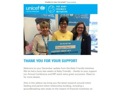 Charity Email - Unicef BFI