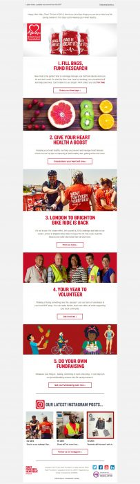 Charity Email - British Heart Foundation