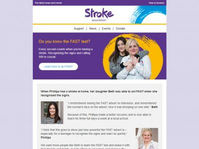 Charity Email - Stroke Association
