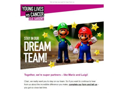 Charity Email - CLIC Sargent
