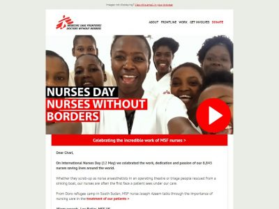 Charity Email - MSF