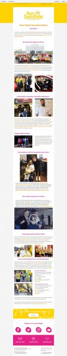 Charity Email - Rays of Sunshine