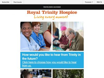 Charity Email - Royal Trinity Hospice