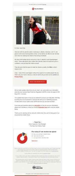 Charity Email - Save the Children
